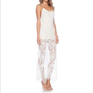 Lovers and friends reflection lace maxi dress sz s
